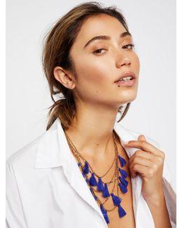Mojave Sunrise Tassel Necklace