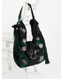 Monarch Embroidered Hobo