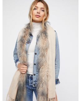 Mongolian Fur Scarf