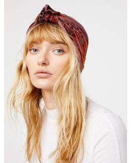 Printed Velvet Turban