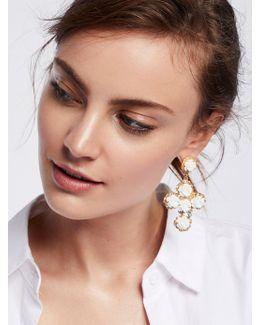 Rose Cross Statement Earrings