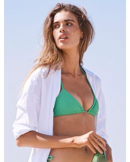 Simply Triangle Top Solid Tie Side Bottoms