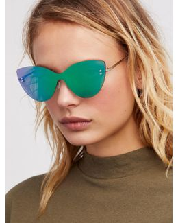 Sneaky Kitty Shield Sunglasses
