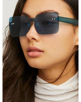 So Square Shield Sunglasses