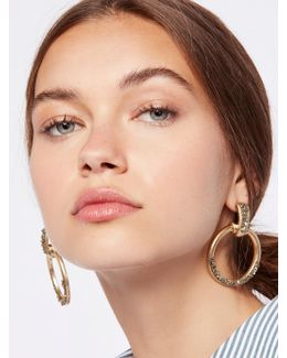 Stoned Farrah Knocker Hoops