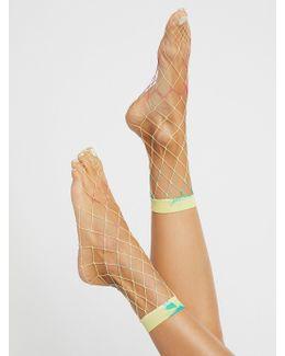 Tie Dye Fishnet Anklet