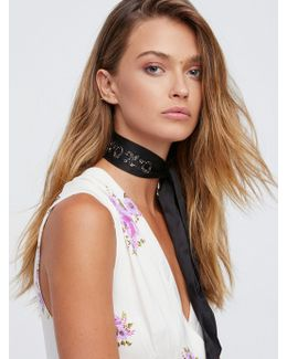 Xoxo Embellished Neck Tie