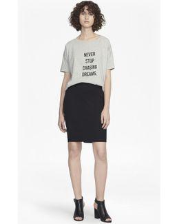 Street Twill Pencil Short Skirt