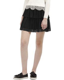 Lizzie Sheer Tiered Skirt