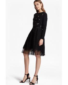 Spotlight Lace Flared Skirt