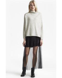 Rosalie Velvet Tulle Maxi Skirt