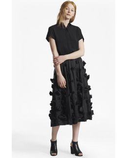 Agnes Floral Applique Midi Skirt