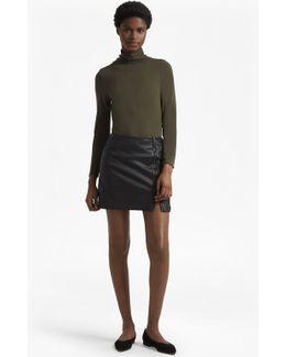 Filomena Faux Leather Mini Skirt