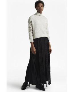 Classic Crepe Light Woven Maxi Skirt