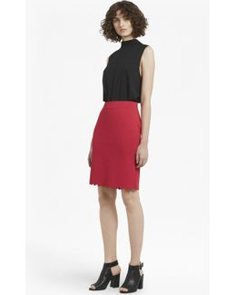 Lela Crepe Knit Pencil Skirt