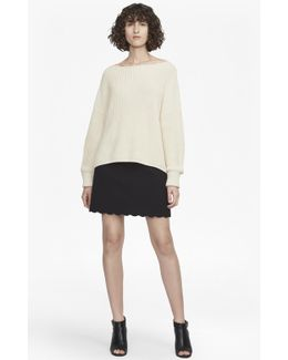 Sundae Suiting Scallop Edge Skirt