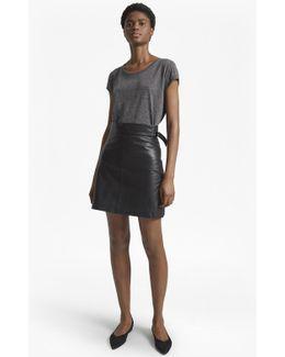 Goldenburg Leather Mini Skirt
