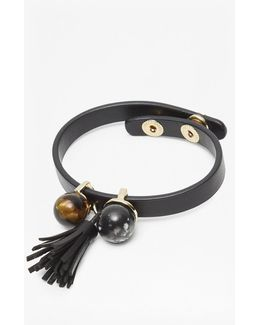 Leatherette Cuff With Tassel