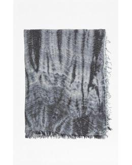 Monochrome Tie Dye Scarf