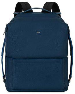 Backpack L Blu Denim C