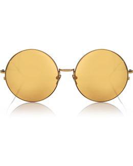22 Karat Gold Round 343 Sunglasses Gold/gold