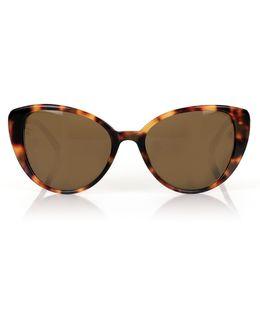 Rounded Cat Eye Lfl517 Sunglasses Tortoiseshell/gold