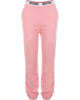 Logo Tape Sweatpants Pink