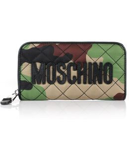 Nylon Zip-around Wallet Camoflage