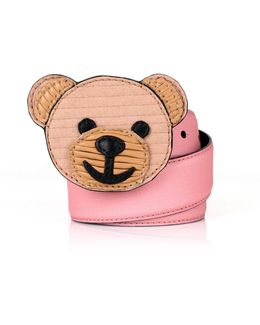 Recycled Bear Belt Pink/brown