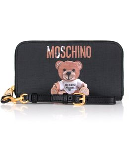 Recycled Bear Zip-around Wallet Black