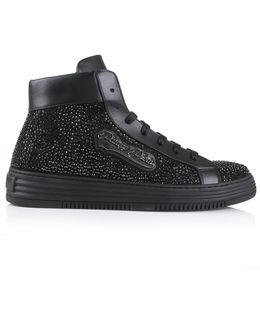 Big Trouble Hi Top Sneakers Black/nickel