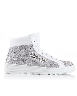 Big Trouble High-top Sneakers White/nickel