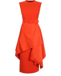 Poppy Midi Dress Red