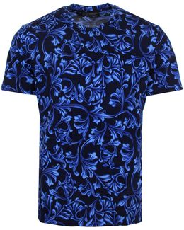 All Over Baroque T-shirt Navy/blue