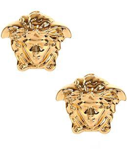 Medusa Head Earrings Gold