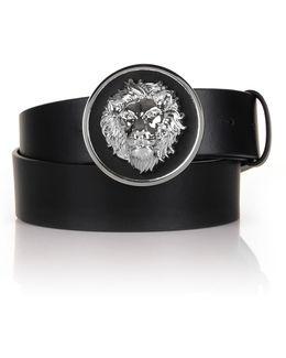 Lion Head Disk Belt Black/nickel