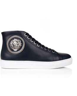 Lion Head High-top Trainers Navy/white