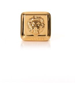 Lion Head Square Ring Gold