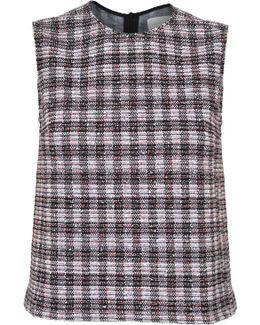 Cropped Dart Vest Boucle