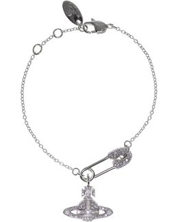 Clotilde Small Bracelet Rhodium/white