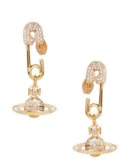 Clotilde Small Earrings Gold/white