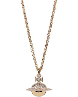 Darius Large Orb Pendant Yellow Gold/white