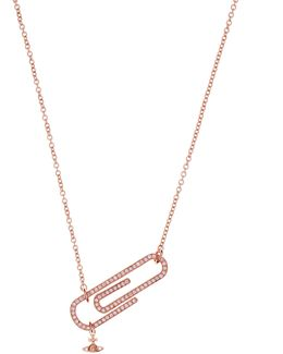 Doreen Small Necklace Pink Gold