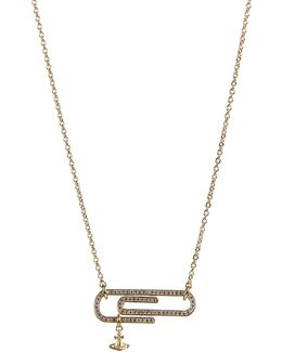 Doreen Small Necklace Yellow Gold/white