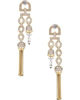 Electra Clasp Earrings Gold/white
