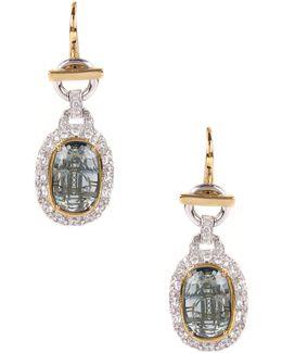 Electra Earrings Gold/blue