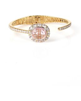 Electra Open Bangle Gold/pink