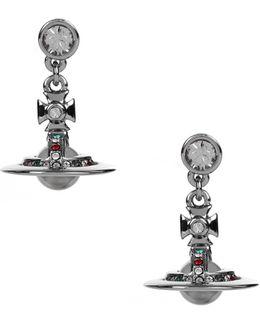 Petite Orb Earrings Ruthenium/multi