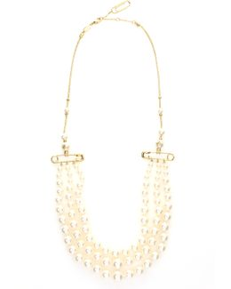 Jordan Necklace Pearl Gold/pearl