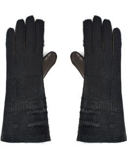 Nappa 6696 Pony Skin Gloves Black